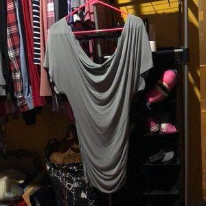 Bebe long shirt-dress